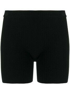 Jacquemus fine-knit fitted shorts - Black