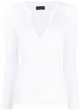 Roberto Collina ribbed-knit cotton top - White