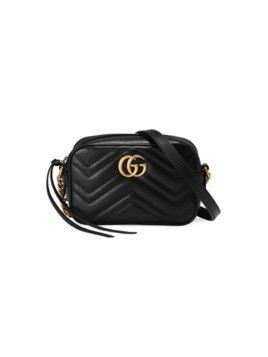 Gucci Black Leather GG Marmont matelassé Mini bag