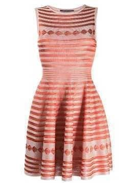 Antonino Valenti embroidered flared dress - Orange