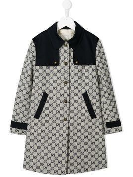Gucci Kids GG logo coat - Blue
