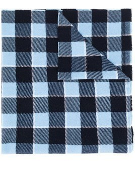 Acne Studios Cassiar check scarf - Blue