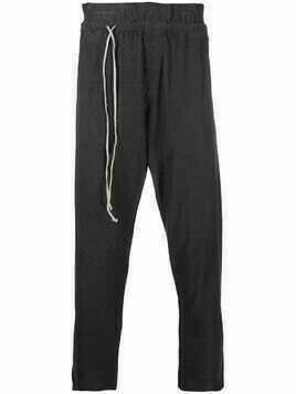 Daniel Andresen cropped track pants - Grey