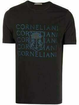 Corneliani logo-print cotton T-Shirt - Black