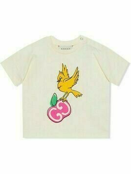 Gucci Kids bird-print T-shirt - White