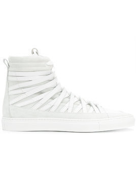 Damir Doma Damirdoma x Officine Creative hi-top strappy sneakers - White