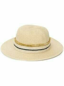 Zeus+Dione embroidered band panama hat - Neutrals
