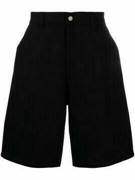 AMI Paris wide-leg denim shorts - Black