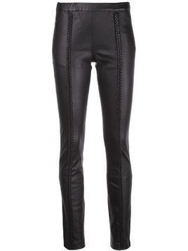 Haider Ackermann braided leather trousers - Black