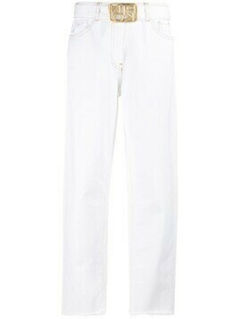 Pinko high-waisted jeans - White