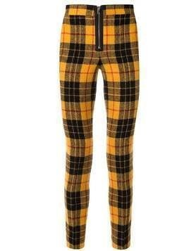 Yang Li check pattern skinny trousers - Yellow