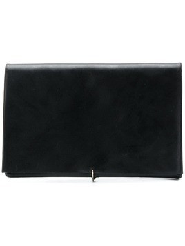 Ma+ foldover smooth wallet - Black