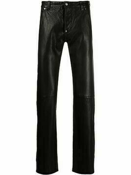 Gianfranco Ferré Pre-Owned 1990s straight leg leather trousers - Black