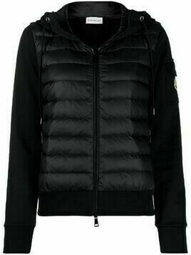 Moncler padded front hooded cardi-coat - Black