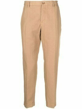 Incotex cotton-linen blend chinos - Neutrals