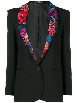Paul Smith Ocean embroidered blazer - Black