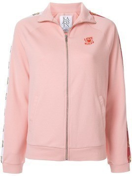 Zoe Karssen Love Rules zipped-up jacket - Pink
