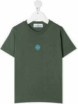 Stone Island Junior logo print to the front - Green