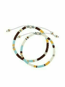 M. Cohen set of 2 Rainbow bracelets - White