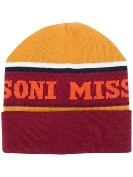 Missoni logo beanie - Red