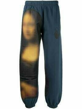 Off-White Blurred Mona Lisa track pants - Blue