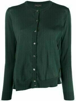 Roberto Collina asymmetric cotton cardigan - Green