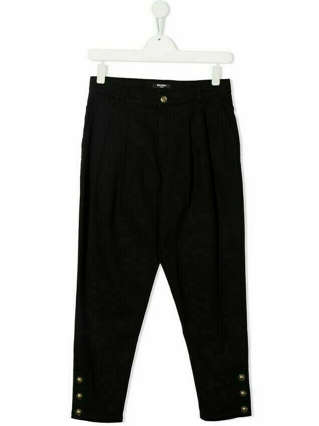 Balmain Kids buttoned trousers - Black