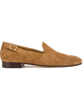 Edhen Milano side buckle loafers - Brown