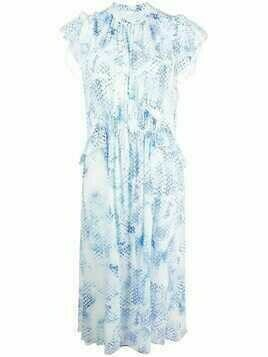 Lala Berlin Delphi floral-print cotton dress - White