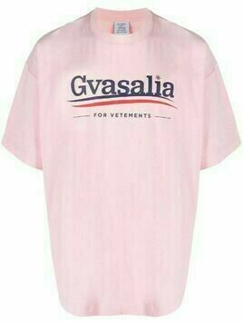 VETEMENTS Gvasalia-print T-shirt - Pink