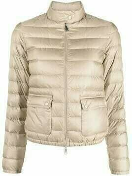 Moncler logo-patch zip-up padded jacket - Neutrals