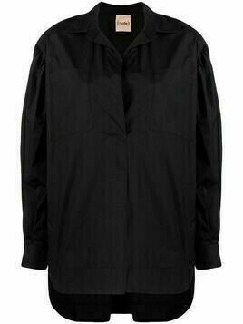 Nude button-up long-sleeved shirt - Black