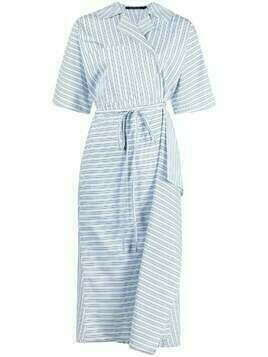 Sofie D'hoore striped midi wrap-dress - White