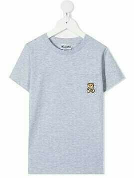 Moschino Kids Toy Bear pocket T-shirt - Grey