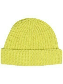 Pringle of Scotland ribbed cashmere beanie - Yellow