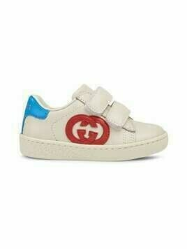 Gucci Kids Interlocking G sneakers - White