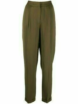 Essentiel Antwerp pressed-crease tailored trousers - Green