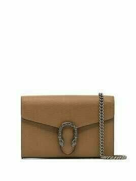 Gucci Dionysus leather crossbody bag - Brown