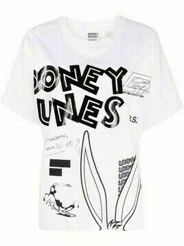 Essentiel Antwerp graphic-print short-sleeved T-shirt - White