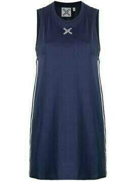 Kenzo logo-print sleeveless dress - Blue