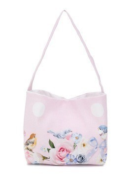 Lapin House Spring print shoulder bag - Pink