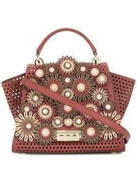 Zac Zac Posen Eartha floral applique tote - Red