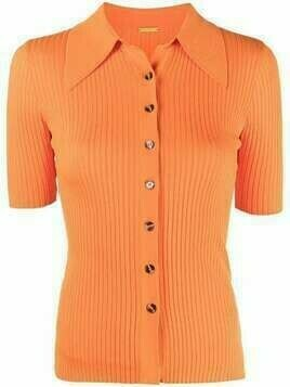 Dodo Bar Or ribbed polo jumper - Orange
