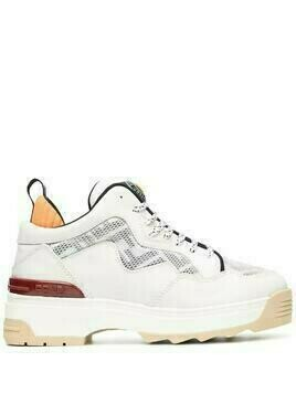 Fendi Pre-Owned logo panel lace-up chunky sneakers - White