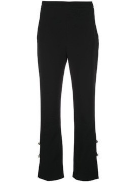 David Koma gem embellished trousers - Black