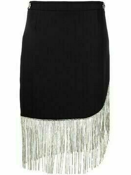 Philipp Plein fringed mini skirt - Black