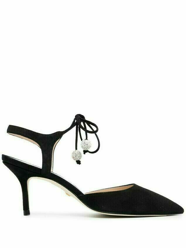 Stuart Weitzman Orion 75mm suede pumps - BLACK