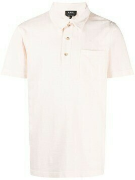 A.P.C. chest patch-pocket polo shirt - Pink