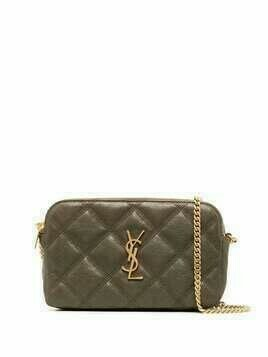 Saint Laurent Becky quilted mini bag - Green