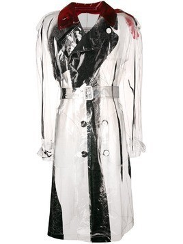 Maison Margiela PVC trench coat - White